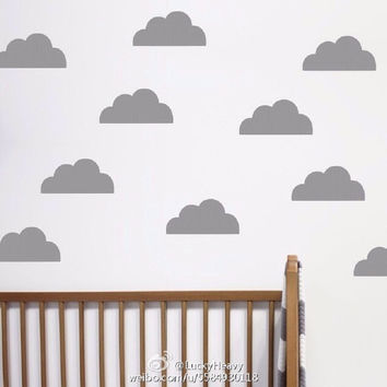 45pcs popular cute cloud pattern Wall Sticker Removable Waterproof No pollution material for Baby bedroom kids living room decal