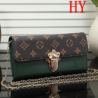 Louis Vuitton LV Fashion Leather Chain Tote Satchel Shoulder Bag Handbag