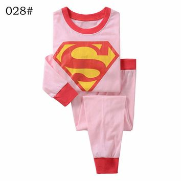 Brand New Superman Girl Pajamas Sets for 2 3 4 5 6 7 years old