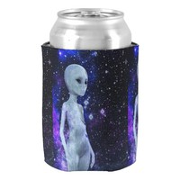 Outer Space Being on Can Cooler