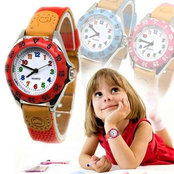 Cute Boys Girls Quartz Watch Kids