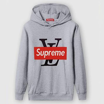 Boys & Men Louis Vuitton X Supreme Fashion Casual Top Sweater Pullover Hoodie
