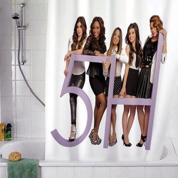 "Fifth Harmony christmas gift, Custom Shower curtain, Sizes available size 36""w x 72""h 48""w x 72""h 60""w x 72""h 66""w x 72""h"