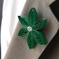 Emerald Green Hair Boutonniere, Green Formal, Green Prom, Green Quinceanera, Green Sweet 16, Homecoming