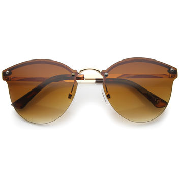 Lightweight Rimless Metal Horned Rim Sunglasses A215