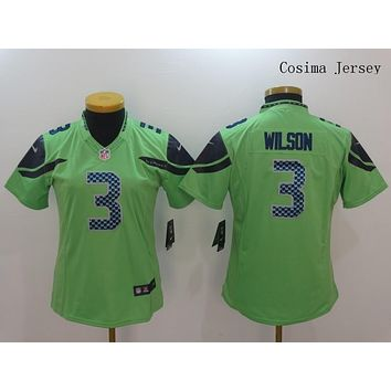 Danny Online Nike NFL Jersey Women's Vapor Untouchable Color Rush Seattle Seahawks #3 Russell Wilson Football Jersey Green
