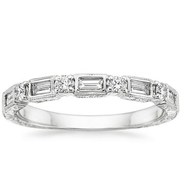 18K White Gold Vintage Diamond Baguette Ring (1/3 ct. tw.)