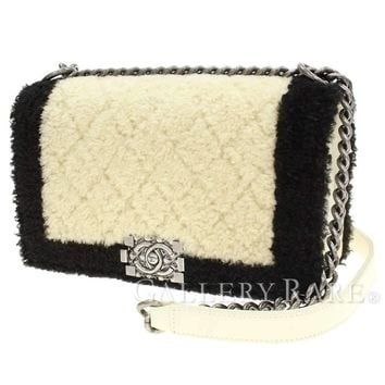 CHANEL Chain Shoulder Bag Boy Chanel Boa Leather A67086 Italy Authentic 4249597