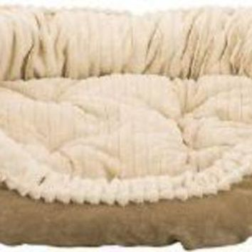 DCCKU7Q Ethical Sleep Zone 32' Tan Plush Bed Carved