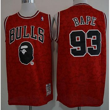 Bape 93 X Mitchell & Ness Bulls Basketball Jersey | Best Online Sale