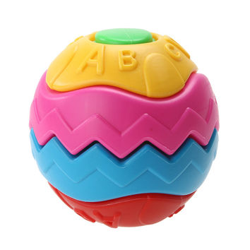 9cm Funny Grasping Baby Infant Crawling Toy Ball Puzzle Deformation Disassemble Creative Assembled Puzzle Educational Toy