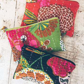 Kantha Cosmetic Bag