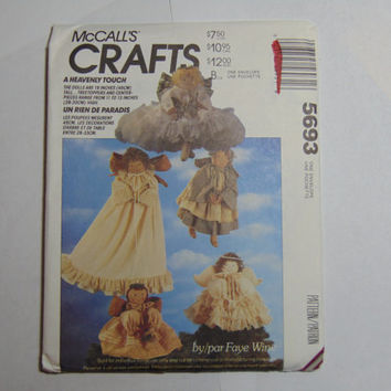 McCall's Craft Sewing Pattern 5693 A Heavenly Touch Angel 19 inch Dolls