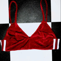 SWEET LORD O'MIGHTY! VELVET KITTEN BRALET IN MAROON