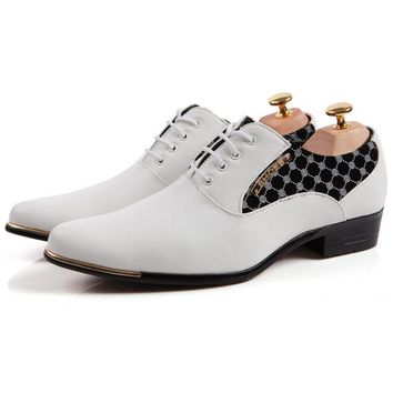 Men's Oxfords Casual Business Pointed Toe Leather Shoes