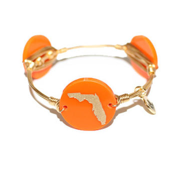 Moon & Lola xx Bourbon & Boweties Florida Bangle - Orange