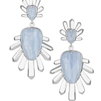 Sterling Statement Earrings in Blue Lace Agate - Kendra Scott Jewelry