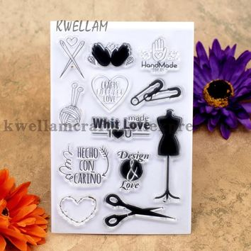 Hand Made IDEAS Design and Love Scrapbook DIY photo cards account rubber stamp clear stamp transparent stamp 10x15cm KW7030119