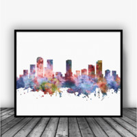 Denver Colorado Skyline Art Print Poster