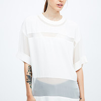 Iro Tilla Sheer Panel Top in White - Urban Outfitters