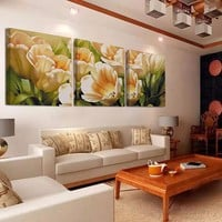 Home Decor Wall Pictures for Living Room Tulip Flowers Canvas Painting Prints Decorative Picture Wall Art Painting No Frame HY10