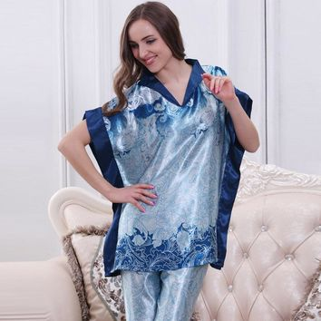 Fashion Western women home clothing set novelty pattern pajamas sets 2015 new arrival Women's Sleep & Lounge sleepwear discount