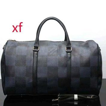 ONETOW LV ladies leather multicolor luggage travel bag handbag F-LLBPFSH Black lattice