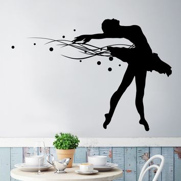 Vinyl Wall Decal Sticker Ballerina #OS_MG137