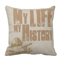 Life Quotes - My Life, My History - Vintage Style Throw Pillow