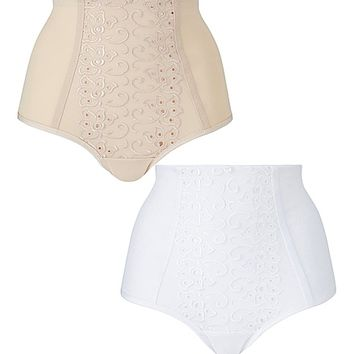 2 Pack Rose Control Full Fit Briefs | SimplyBe US Site
