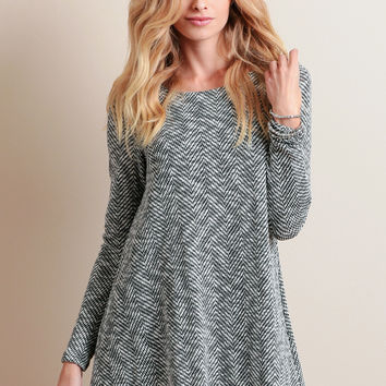 Heston Knit Chevron Dress