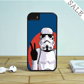 Peace Sign Storm Trooper Star Wars For iPhone | Samsung Galaxy | HTC Case