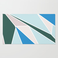Ocean Colors Area & Throw Rug by Ashley Hillman