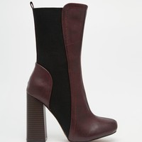 Truffle Collection Nia Heeled Mid Calf Boots at asos.com