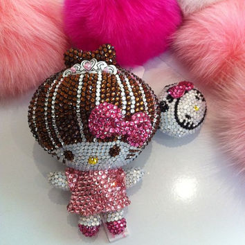 Bling  Plush doll crystal charm handmade w/ by Crystaljam on Etsy