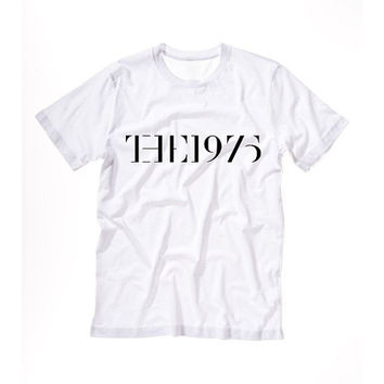 THE 1975 groupe musique band tee T shirt Tshirt Tee Tumblr blanc unisexe fashion femme dope - taille S M L - 5sos one direction harry styles