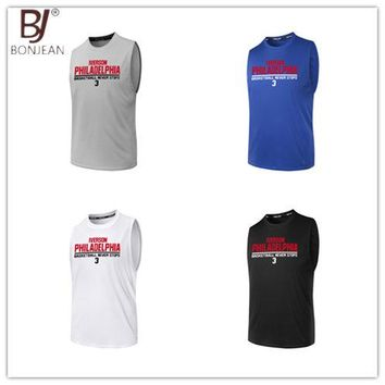 BONJEAN 3 Allen Iverson Printed Jersey Top Quality Uniforms Sports Basketball Jerseys Breathable Quick Dry Training Shirts