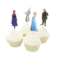 Buy Home Frozen Fever Cupcake Birthday Cake Decorating Supplies Decoration Toppers (48)