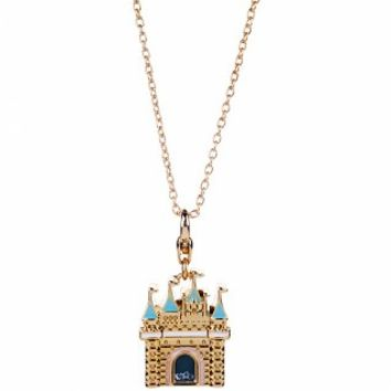 14kt Gold Plated Disney Princess Castle Charm Necklace From Disney Couture : TruffleShuffle.com