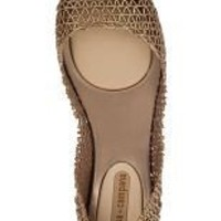Melissa Papel Flat Gold Jelly - Jildor Shoes, Since 1949