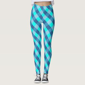 Blue Plaid print legging