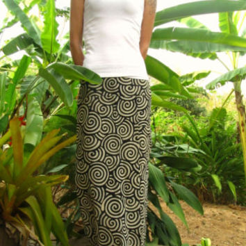 Black Swirl Cotton Skirt Pants Trousers Harem Yoga Pants Hippie Travel Indie | eBay