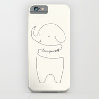 Love Yourself Ele by ilovedoodle iPhone & iPod Case by I Love Doodle