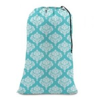 Space Living College Girl Laundry Bag - Turquoise Damask Laundry Bags