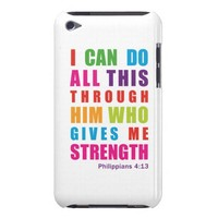 Colorful Philippians 4:13 iPod Touch Case from Zazzle.com