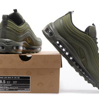 """Nike Air Max 97"" Men Sport Casual Solid Color Fashion Air Cushion Running Shoes Sneakers"