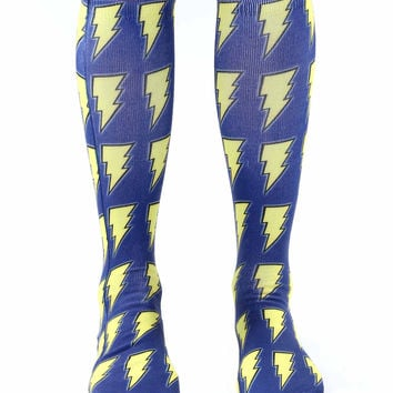 Lightning Bolt Knee High Socks