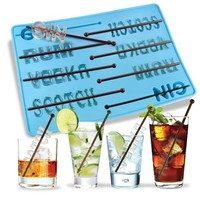 On The Rocks - Liquor Ice Tray with Stirrers