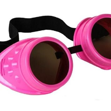 Plain Pink Goggles DIY Cosplay Cyber Goth Glasses