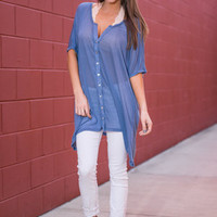Always By My Side Top, blue
